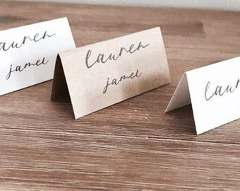 Wedding / Engagement Table Place Card. Tent style