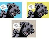 Labrador dog gift for men Boyfriend gift ideas Mens gift Original drawing Dog portrait wall prints Funny coworker gift Giclee prints decor
