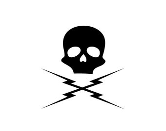 Death Proof Decal - Skull Decal / Tarantino / Deathproof / Movie Decor