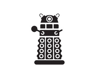 Dalek Decal, Doctor Who, Decal, Dalek, Car Decal, Vinyl Decals, Laptop Stickers