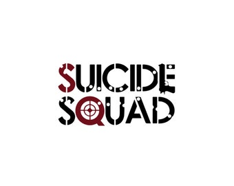 Suicide Squad Decal, Vinyl Decal, Harley Quinn, The Joker, Car Decal, DC Comics