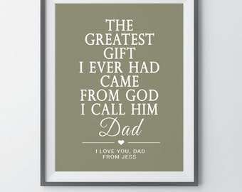 Fathers Day Gift Son to Father Gift Father of the Bride Gift Daughter to Father Gift Personalized Gift for Dad Thank You Dad Gift