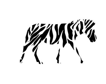 Zebra Black and White Pattern Craft Vinyl. UV Laminated. Various Sizes Available.