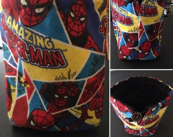 Spiderman Dice Bag, The Amazing Spiderman, drawstring bag, coin purse, pouch, Marvel, Marvel Universe