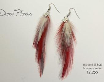 Feathers pierced earrings