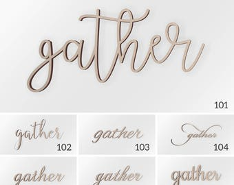 Gather Wood Sign, Rustic Wall Decor, Gather Sign, Wood Signs, Wooden Signs