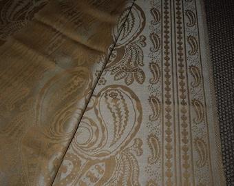 Almedahls - Linen Damask - Table Cloth - Paisley - Golden - Retro - Sweden - Design - Mid Century -