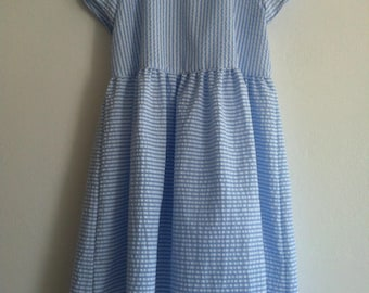 airy maritime seersucker dress