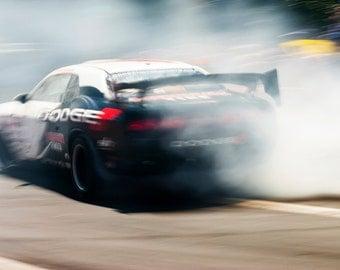 SMOKIN ! Motor Racing, Racing Car, Motorsport Print, Photographic print, Car Racing Print