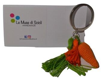 Crochet Carrot Keyring