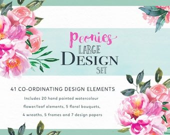Large floral clipart – Etsy UK