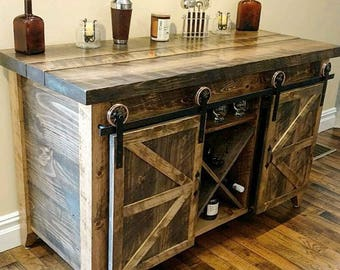 Wine Storage Dry Bar- Buffet Table -Serving Table