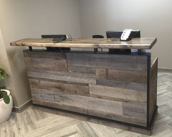Barn Wood Reception Desk / Front Counter