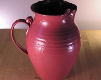 Pitcher - Dusty raspberry stoneware pitcher
