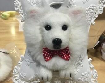 Needle Felted Wool Pet Portrait in 3D
