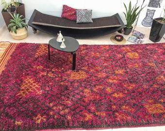 "Vintage Moroccan rug ""Summer Love"" ,Talsint kilim, Bohemian rug, Tribal area rug, Moroccan decor, Talsint Red Rug, Moroccan rug"