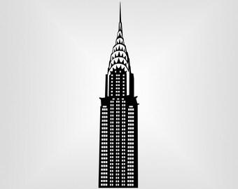 Chrysler Building, NY Svg, Vector art, Cricut, Silhouette Cameo, die cut, instant download, Digital Cut, Print Files, Ai, Pdf, Svg