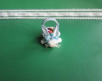 Miniature Easter Basket-Blue Easter Basket-Bunny Easter Basket