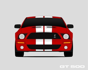 2007 2008 2009 Shelby GT500 Poster // Shelby Cobra // Shelby Mustang // Carroll Shelby // Mustang Poster // SVT Mustang