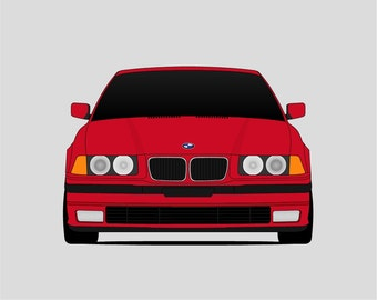 BMW E36 // BMW 3 Series // E36 Poster // 316i 318i 318is 318ti 320i 320i 323i 323ti 325i 325is 328i 328is