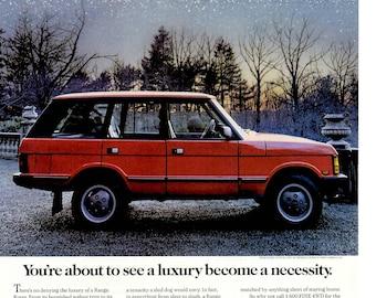 "1989 Range Rover vintage magazine car ad ""When Luxury becomes a Neccessity "" (1705)"