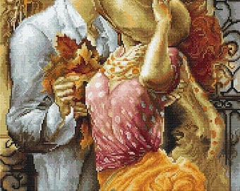 "Counted Cross Stitch Kit LUCA-S - ""Autumn Leaves"""