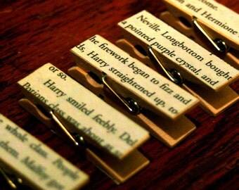 Small Harry Potter clothes pins- set of 5