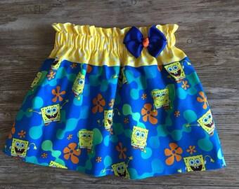 Sponge Bob Skirt, Skirt With The Sponge Bob, Skirt With Sponge Bob, Sponge Bob Under The Sea Skirt