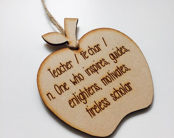 Personalised Ornament Apple Teacher Gift Bauble Personalized Christmas Gift Hanging Bauble Gifts for teachers AP4