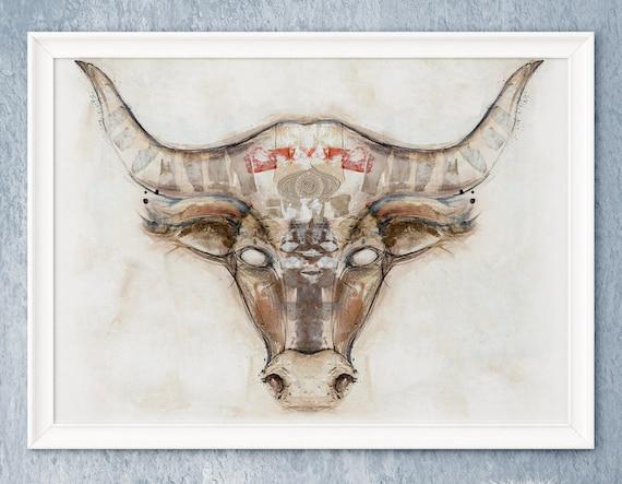 Very Bull Head Painting 6135 | MOVIEWEB UG49