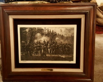 Limited Edition Civil War Engraving by Julian Scott