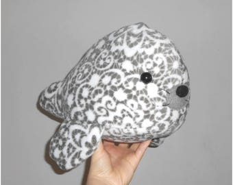 READY TO SHIP: handmade seal plush out of minky