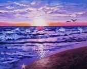 Original painting, canvas art, beach decor, surf art, oil painting, textured wall art, coastal decor, modern art, colorful painting, beach