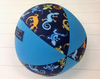 Balloon Ball Fabric, Balloon Ball Cover, Portable Ball, Travel Ball, Inflatable, Sensory, Special Needs, Geckos, Blue, Aqua, Kids, Eumundi