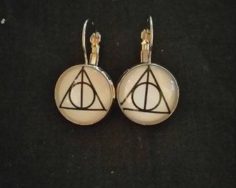 """Silver earrings """"harry potter"""""""