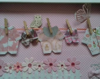 3D Picture Origami Baby Clothes and Booties