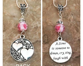 Sister Charm Necklace, Sister Necklace, Sister Gifts, Sister Jewelry