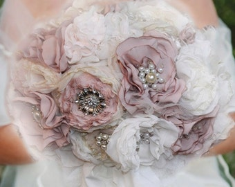 bridal bouquet, brooch, wedding bouquet, wedding bouquet, bridal flowers, fabric flowers, fabric bouquet, bridal bouquets ramos,
