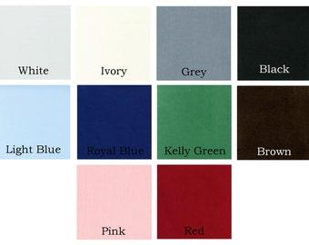 Corduroy Fabric, 21 wale featherweight corduroy, Robert Kaufman Fabric, red, green, blue, white, ivory, 100% cotton