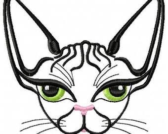 AC 010 Egypt cat - Machine Embroidery Design