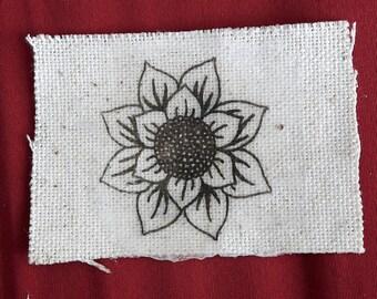 Sunflower Mandala Canvas Patch