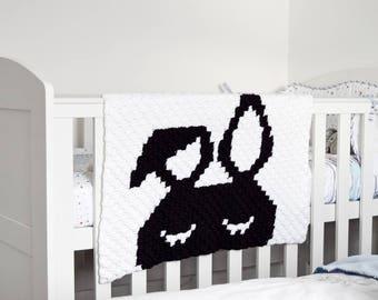 LAZY BUNNY Blanket Crochet Pattern