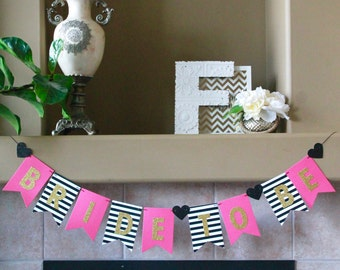 bride to be mama to be banner kate spade bridal shower kate spade