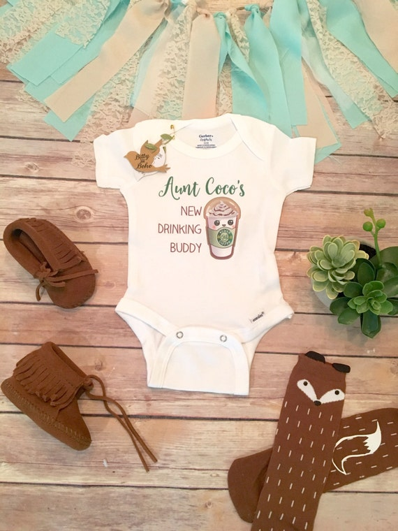 Baby Gift Aunt : Unique baby gift aunt new drinking buddy onesie? by