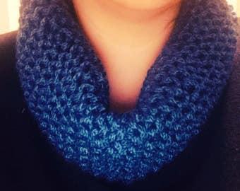 Blue fashionable scarf