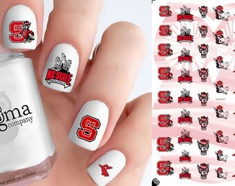 NC State Wolfpack Nail Decals (Set of 50)