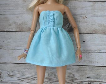 Beautiful handmade summer outfit-dress for Barbie Fashionistas dolls