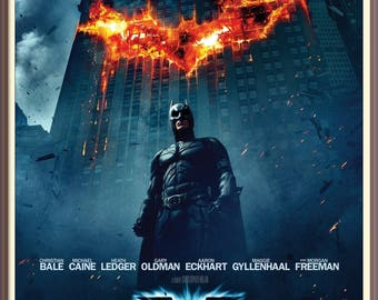 The Dark Knight - Batman - High Quality Movie Poster - Print Reproduction