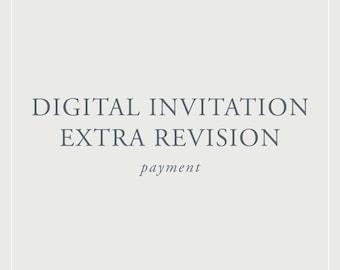 Digital Invitation Extra Revision- Printables