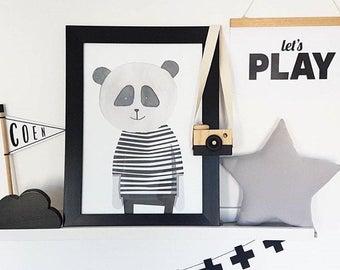 Panda Art Print - Digital Print - Wall Art